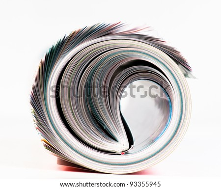 Magazine Roll. Side view. - stock photo