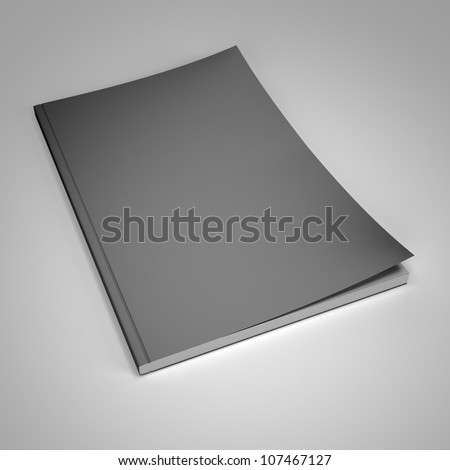 Magazine with blank cover template 3d render - stock photo