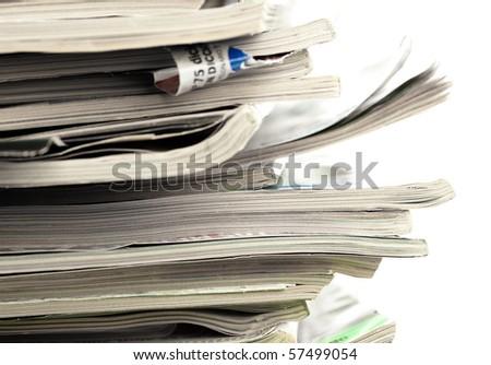magazines closeup - stock photo
