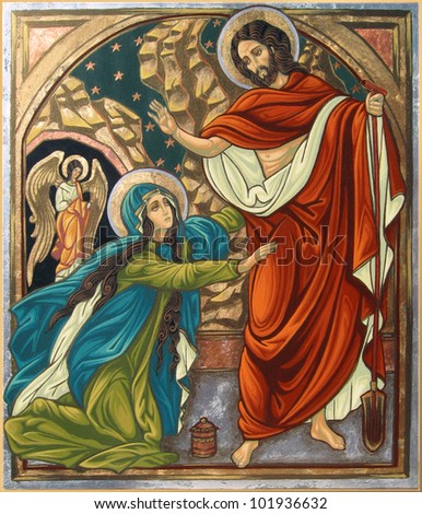 Magdalena and Jesus Resurrection