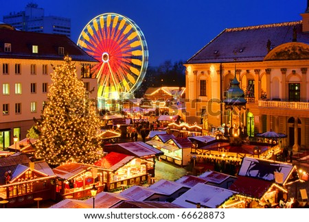 Magdeburg christmas market - stock photo