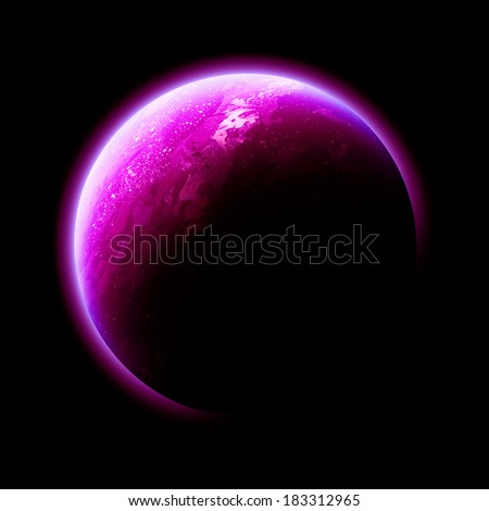 Magenta Planet Isolated - Elements of this image furnished by NASA
