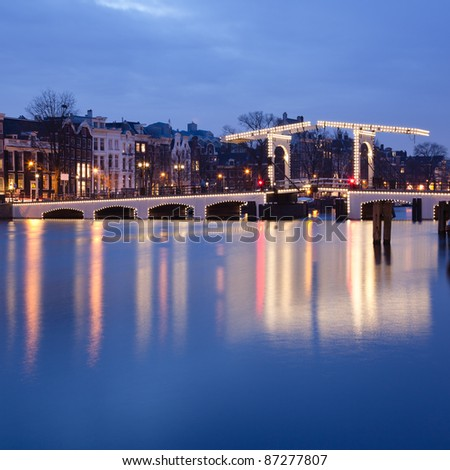 Magere Brug on the Amstel River