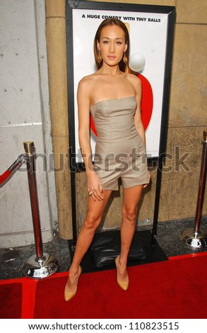 "Maggie Q at the Los Angeles premiere ""Balls Of Fury"". The Egyptian Theatre, Hollywood, CA. 08-25-07"