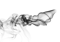 Magic Abstract fume shape over the white background
