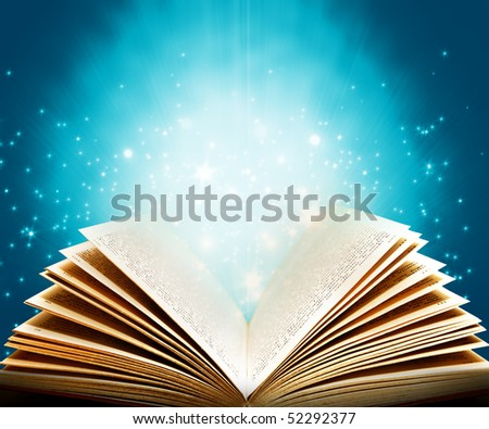 Magic book of fantasy stories