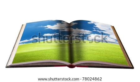 Magic book with Landscape view for your education material