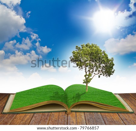 Magic book with Tree