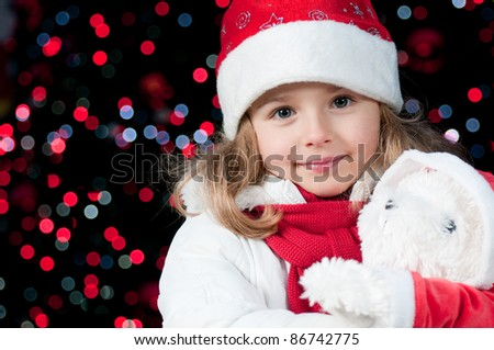 Magic Christmas  - cute  girl at Christmas night  (no-name toy)