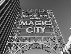 Magic City sign in Birmingham, Al.