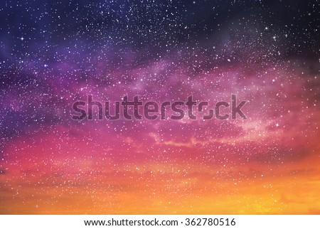 Magic color sky background