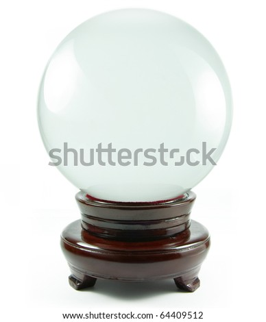 magic crystal ball isolated on a white background - stock photo