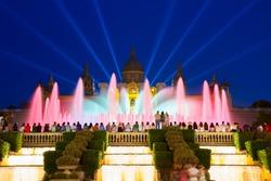 Magic Fountain and National museum, Barcelona, Spain
