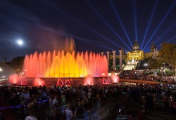 Magic Fountain and the Catalan art museum, Barcelona