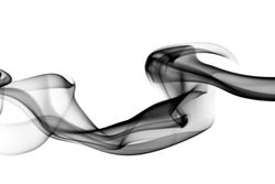 Magic fume shape Abstraction over the white background