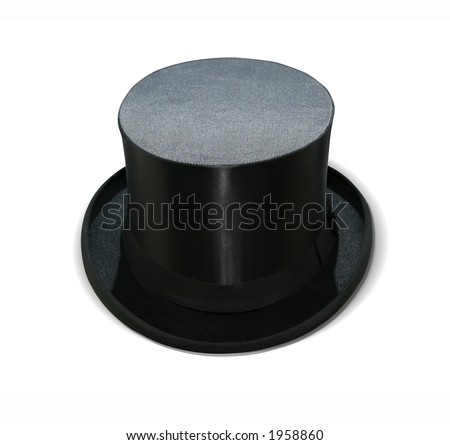 Magic hat isolated on white with clipping path - stock photo
