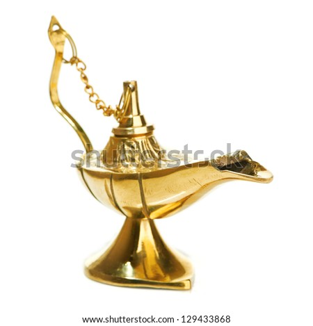 magic lamp isolated on white