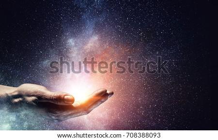 Magic light in palm
