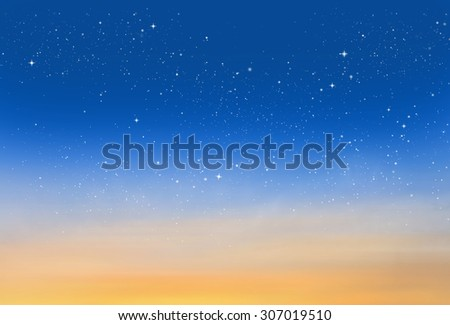 Magic sky background with stars #307019510