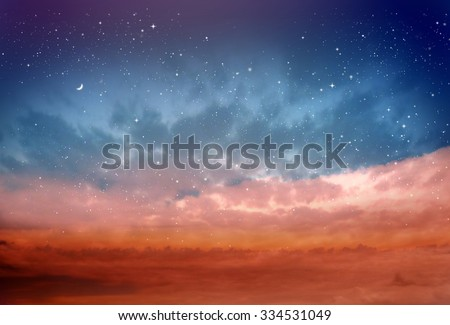 Magic sky background with stars #334531049