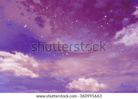 Magic sky background with stars #360995663