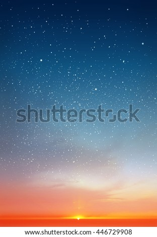 Magic sky background with stars #446729908