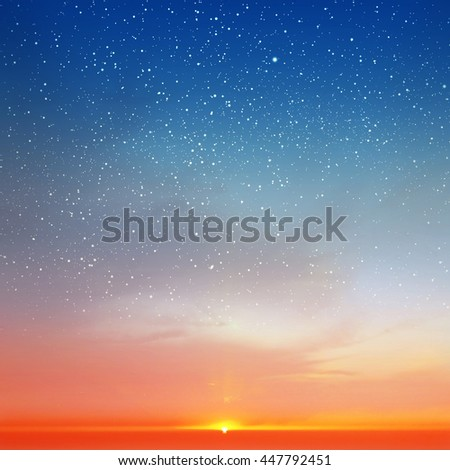 Magic sky background with stars #447792451