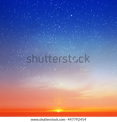 Magic sky background with stars #447792454