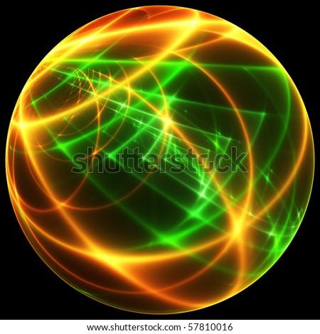 Magic sphere isolated on black