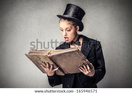 Magic Student - stock photo