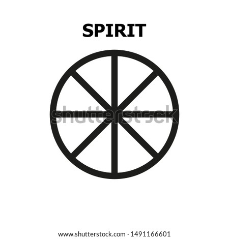 Magic symbol of the spirit. Abstract concept, icon.