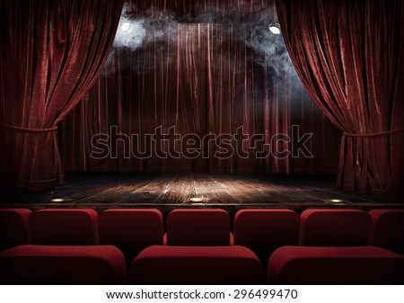 magic theater stage red...