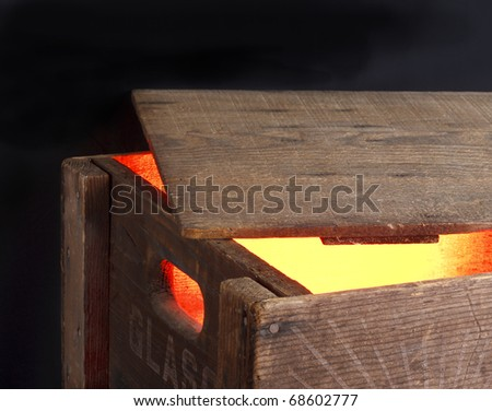 Magic Wooden box, glowing from within