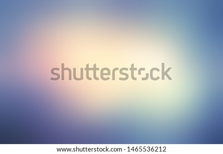 Magical sky blur illustration. Smoky vignette pattern. Blue red yellow gradient defocus background. Impressive light and shade frame. Сток-фото ©