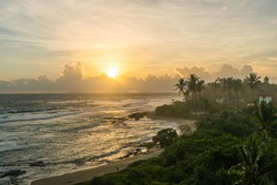 Magical sunset in Arugam bay, Sri Lanka
