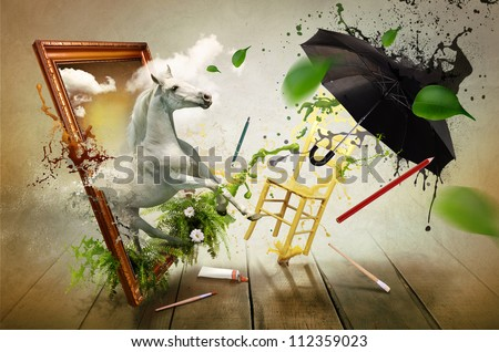 Magical world of painting