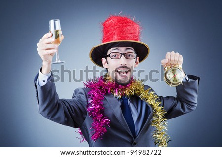 Magician in the business suit - stock photo