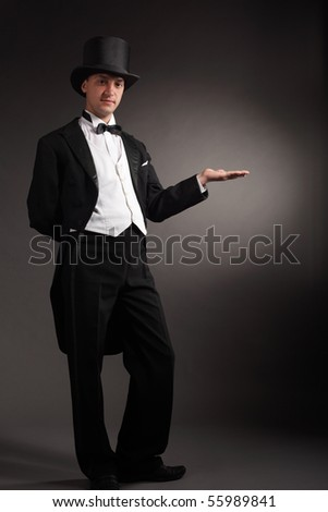 magician offer - stock photo