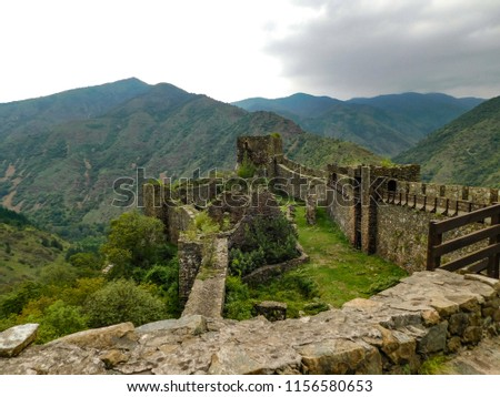 Maglic , ancient building, fortress, 13th century, valley of Ibar, Serbia #1156580653