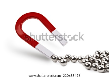 magnet attracting chrome ball...