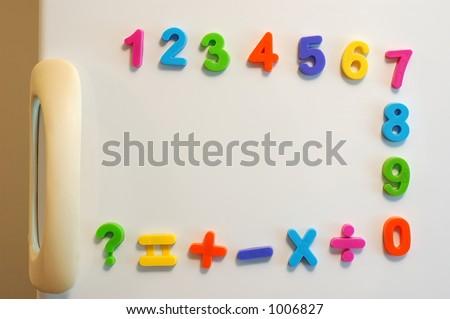 Fridge Door Magnets Magnet Numbers on Fridge Door
