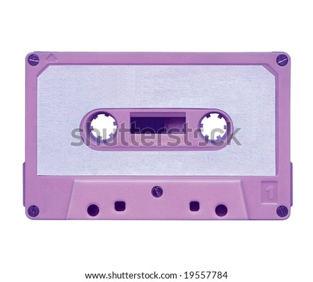 Magnetic audio tape cassette for music (violet)