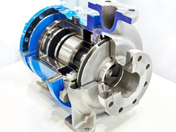 Magnetic drive pump at the exhibition