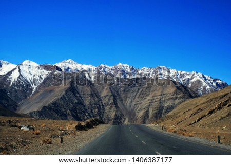 Magnetic Hill is a gravity hill in Leh Ladakh, Jammu and Kashmir, India #1406387177