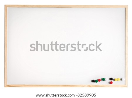 Magnetic message board, isolated on white.