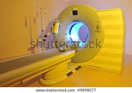 Magnetic Resonance Imaging machine - a series of dramatically lightened MRI.