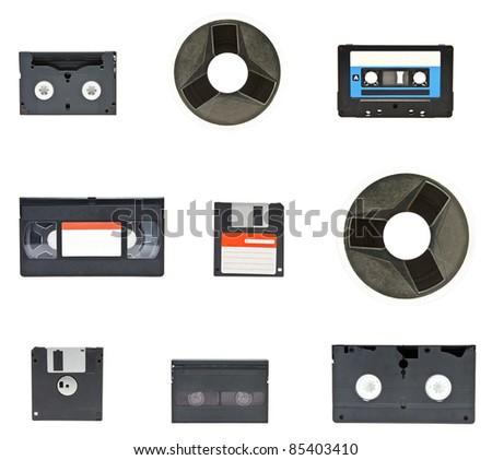 magnetic tape cassette vintage
