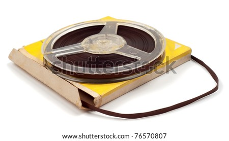 Magnetic tape for audio records with packing isolated over white