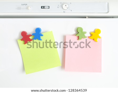 magnets shaped kids colors with note paper