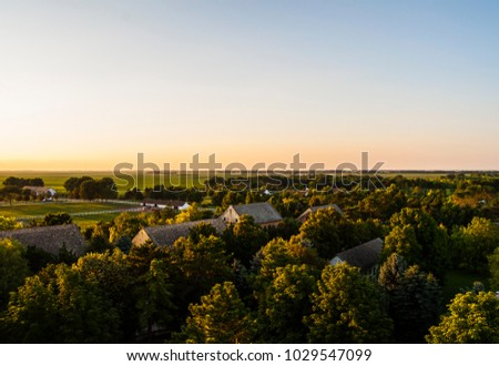 magnificent aerial view at...
